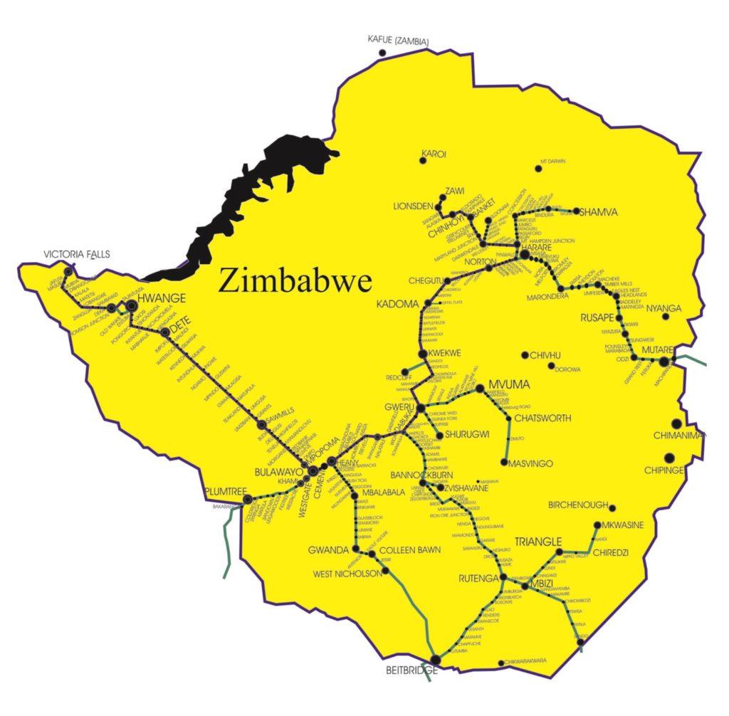Network System National Railways Of Zimbabwe
